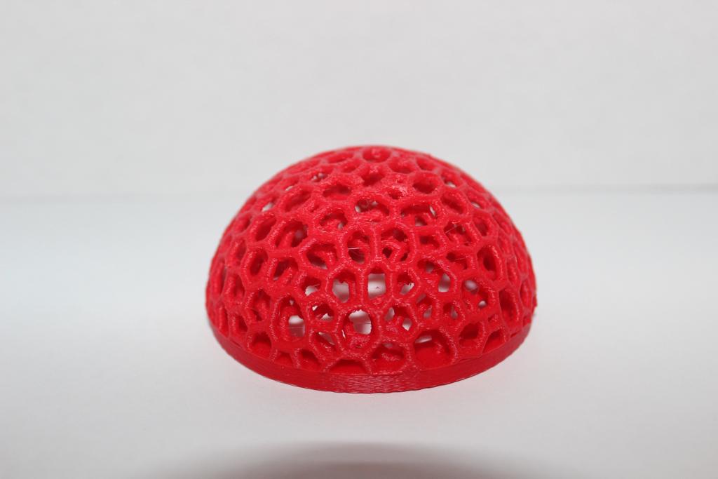 3D printed mushroom cap