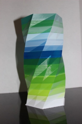 Multi-color 3D printed vase